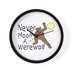 Moon A Werewolf Wall Clock