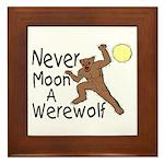 Moon A Werewolf Framed Tile
