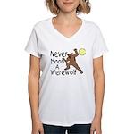 Moon A Werewolf Women's V-Neck T-Shirt