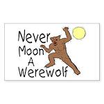 Moon A Werewolf Rectangle Sticker