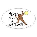 Moon A Werewolf Oval Sticker