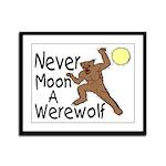 Moon A Werewolf Framed Panel Print