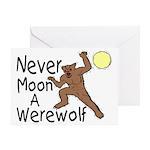 Moon A Werewolf Greeting Card