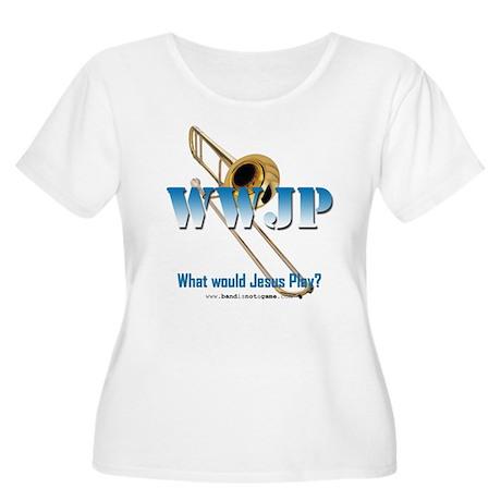 WWJP - trombone Women's Plus Size Scoop Neck T-Shi