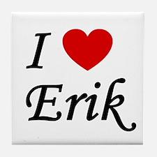 I Heart Erik Tile Coaster
