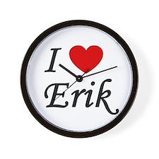I Heart Erik Wall Clock
