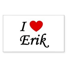 I Heart Erik Rectangle Decal