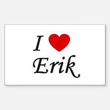 I Heart Erik Rectangle Decal
