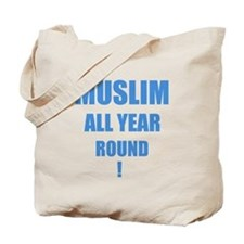 Click here for Blue Text Tote Bag