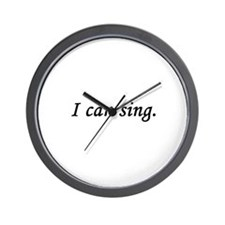 I Can Sing Wall Clock