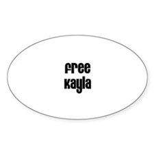 Free Kayla Oval Decal