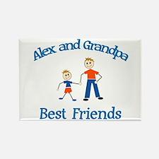 Alex & Grandpa - Best Friends Rectangle Magnet