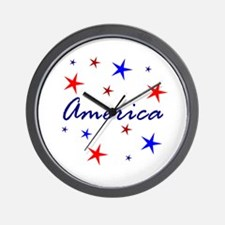 Patriotic America Wall Clock