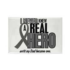 Never Knew A Hero 2 Grey (Dad) Rectangle Magnet