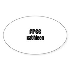 Free Kathleen Oval Decal