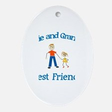 Katie & Grandpa - Best Friend Oval Ornament