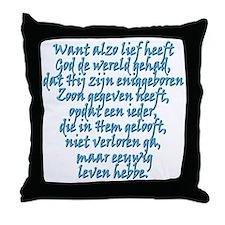 John 3:16 Dutch Throw Pillow