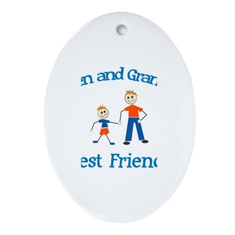 Owen & Grandpa - Best Friends Oval Ornament