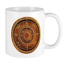 Compass Rose in Brown Mug