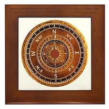 Compass Rose in Brown Framed Tile