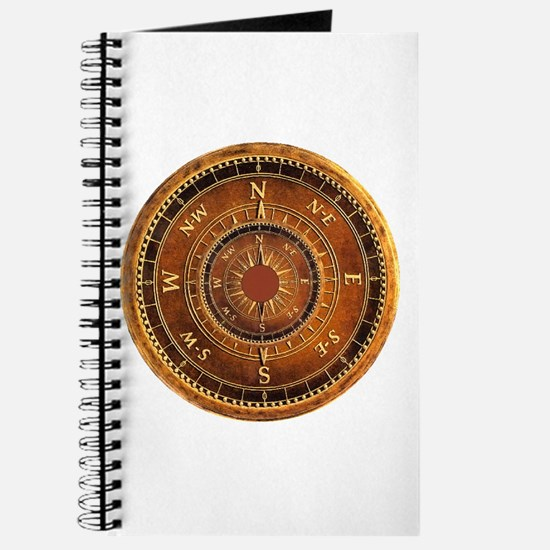 Compass Rose in Brown Journal