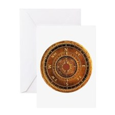 Compass Rose in Brown Greeting Card