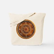 Compass Rose in Brown Tote Bag
