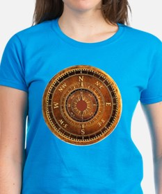 Compass Rose in Brown Tee