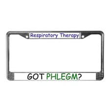 Funny Respiratory therapy License Plate Frame