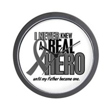Never Knew A Hero 2 Grey (Father) Wall Clock