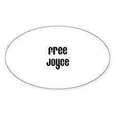 Free Joyce Oval Decal