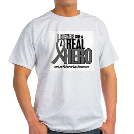 Never Knew A Hero 2 Grey (Father-In-Law) Light T-S