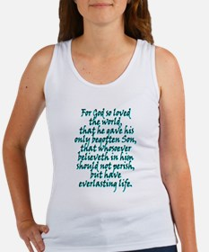 John 3:16 English Women's Tank Top