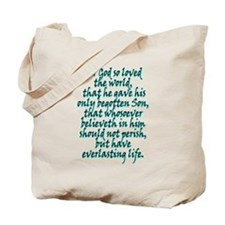 John 3:16 English Tote Bag