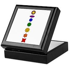 Chakra Mandala Line Keepsake Box