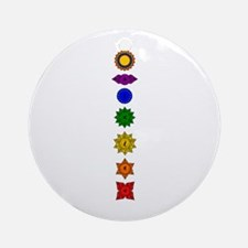 Chakra Mandala Line Ornament (Round)