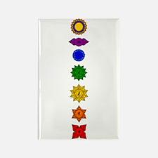 Chakra Mandala Line Rectangle Magnet
