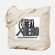 Never Knew A Hero 2 Grey (Grandmother) Tote Bag