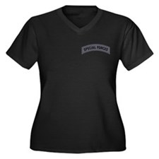 Special Forces(ACU) Women's Plus Size V-Neck Dark