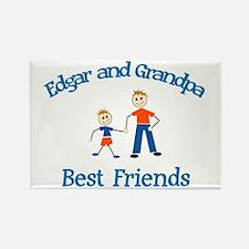 Edgar & Grandpa - Best Friend Rectangle Magnet