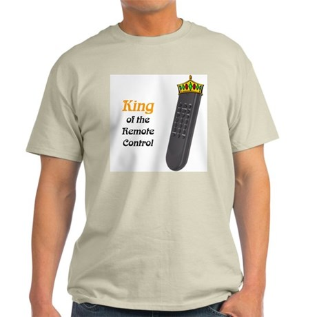 Remote Control King Ash Grey T-Shirt