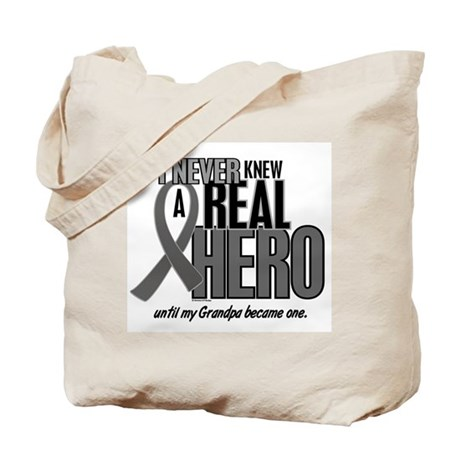 Never Knew A Hero 2 Grey (Grandpa) Tote Bag