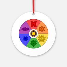 Chakra Color Wheel Ornament (Round)