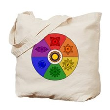 Chakra Color Wheel Tote Bag