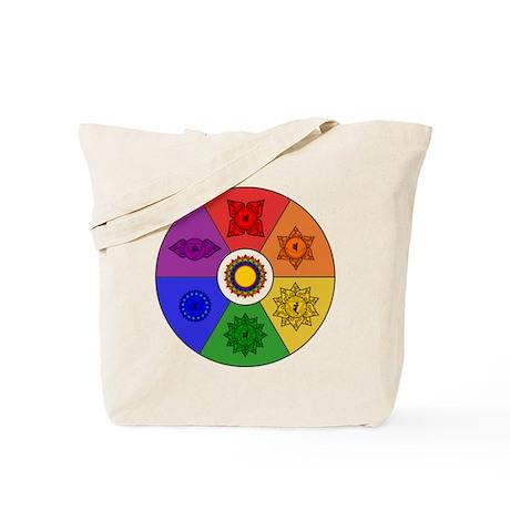 Chakra Color Wheel Tote Bag