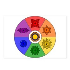 Chakra Color Wheel Postcards (Package of 8)