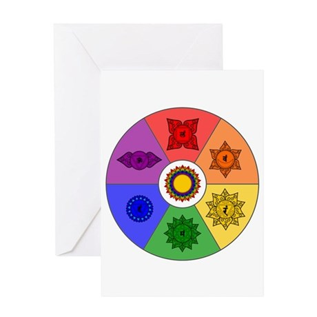 Chakra Color Wheel Greeting Card