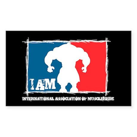 Int'l Assoc Of MUSCLEHEDZ - Rectangle Sticker