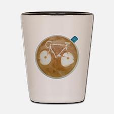 Funny Mountain bike Shot Glass
