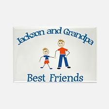Jackson & Grandpa - Best Frie Rectangle Magnet